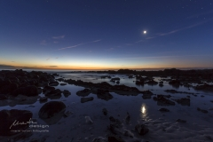 Mond im Nordosten