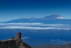 Blick zum Teide und Roque Nublo